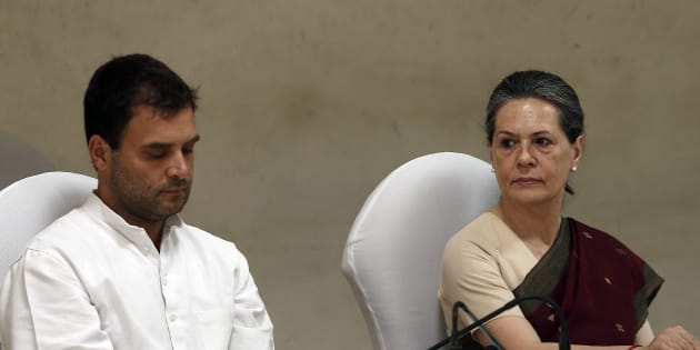 Rahul Gandhi (left) and Sonia Gandhi (right).