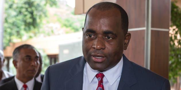 Le Premier ministre de Dominique Roosevelt Skerrit en 2013.