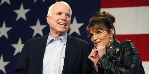 Aux obsèques de John McCain, Sarah Palin son ex-colistière, n'a pas été invitée.