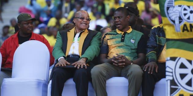 President Jacob Zuma and Paul Mashatile earlier this year.