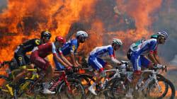 Tour de France: les images spectaculaires des coureurs au milieu des