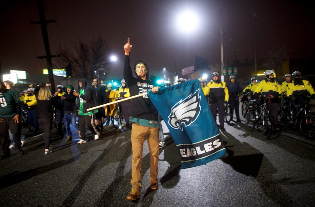 Celebrity philadelphia eagles fans celebrate