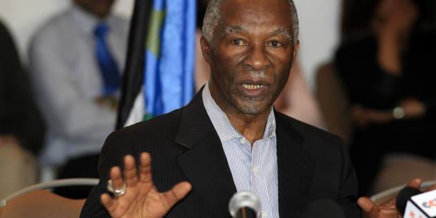 Former South African president Thabo Mbeki.