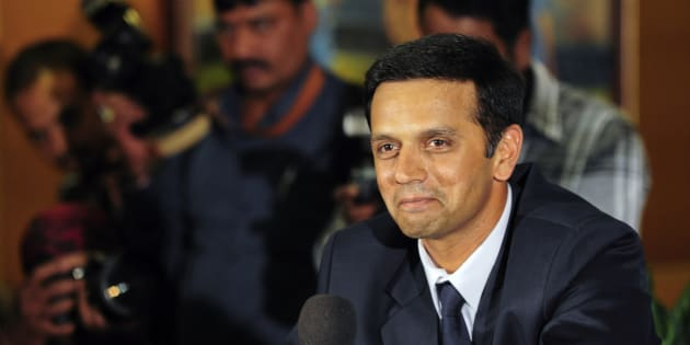 Indian cricket player Rahul Dravid.