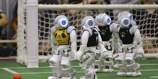 Humanoid robots will clash in Germany.