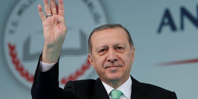 Recep Tayyip Erdogan, el presidente turco, durante un acto en su honor el pasado 29 de septiembre, en Estambul.