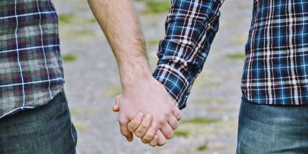 Gay Men Hands Clasped