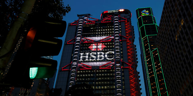 HSBC headquarters is seen at the financial Central district in Hong Kong, China September 6, 2017.