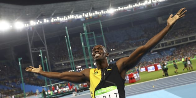 2016 Rio Olympics - Athletics - Final - Men's 100m Final - Olympic Stadium - Rio de Janeiro, Brazil - 14/08/2016. Usain Bolt (JAM) of Jamaica celebrates winning the gold medal.     REUTERS/Kai Pfaffenbach   FOR EDITORIAL USE ONLY. NOT FOR SALE FOR MARKETING OR ADVERTISING CAMPAIGNS.
