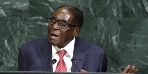 Zimbabwean President Robert Mugabe addresses the 72nd United Nations General Assembly at U.N. headquarters in New York, U.S., September 21, 2017. REUTERS/Eduardo Munoz