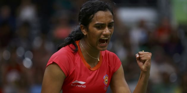 PV Sindhu at the 2016 Rio Olympics.
