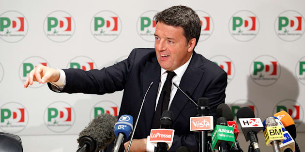 Democratic Party (PD) leader Matteo Renzi talks during a news conference, the day after Italy's parliamentary election, in Rome, Italy March 5, 2018. REUTERS/Remo Casilli