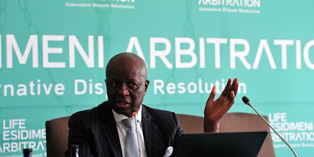 Former deputy chief justice Dikgang Moseneke during the Life Esidimeni arbitration hearing at Emoyeni Conference Centre, Parktown on October 09, 2017 in Johannesburg, South Africa.