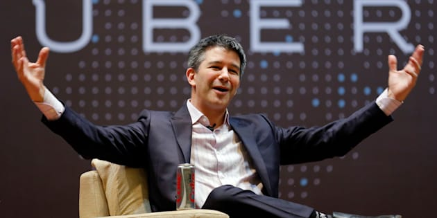 Uber CEO Travis Kalanick speaks to students during an interaction at the Indian Institute of Technology campus in Mumbai, India, January 19, 2016.
