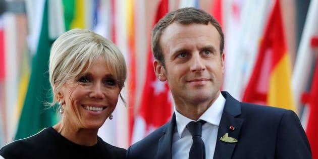 Emmanuel Macron y su esposa Brigitte, durante la reunión del G20 celebrada en Hamburgo (Alemania) el pasado 7 de julio.