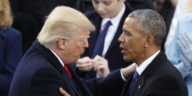 Barack Obama et Donald Trump, le 20 janvier 2017 à Washington.