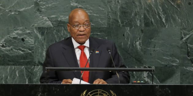 President Jacob Zuma addresses the 72nd United Nations General Assembly at U.N. headquarters in New York, U.S., September 20, 2017.