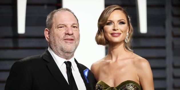 89th Academy Awards - Oscars Vanity Fair Party - Beverly Hills, California, U.S. - 26/02/17 ? Producer Harvey Weinstein and fashion designer Georgina Chapman. REUTERS/Danny Moloshok