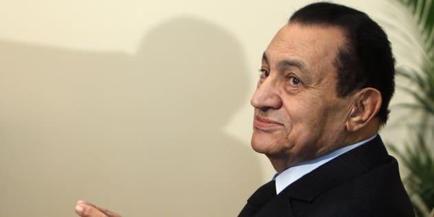 Hosni Moubarak lors d'une réunion au Caire en octobre 2010