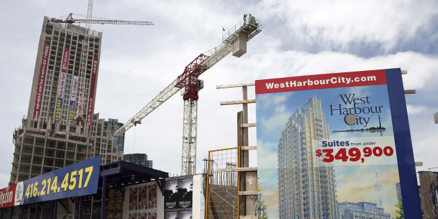 Condominiums are seen under construction in Toronto in this June 19, 2009 file photo.