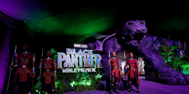 """The premiere of """"Black Panther"""" in Los Angeles. January 29, 2018."""
