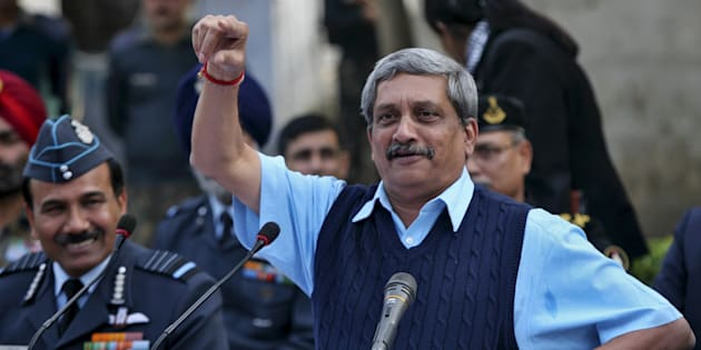 File photo of India's Defence Minister Manohar Parrikar.
