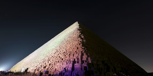 The Pyramid of Khufu, the largest of the pyramids of Giza, is pictured on the outskirts of Cairo, Egypt