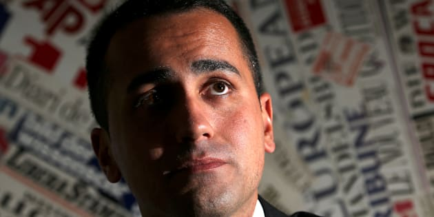 Anti-establishment 5-Star Movement Luigi Di Maio looks on during a news conference at the Foreign Press Club in Rome, Italy, March 13, 2018. REUTERS/Tony Gentile