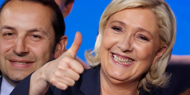 Marine Le Pen à Nice le 1er mai 2018.
