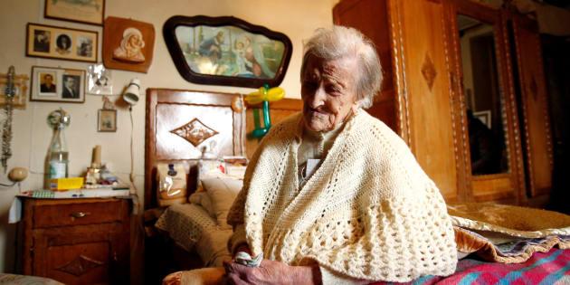 Emma Morano à son domicile de Verbania en Italie le 29 novembre 2016.
