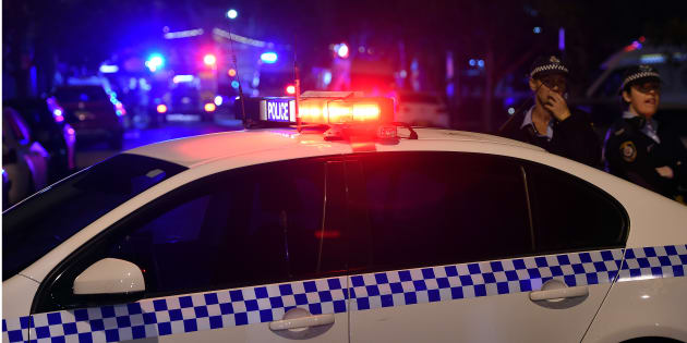 Police have set up a crime scene in Sydney's west after a man turned up to hospital with bullet wounds.