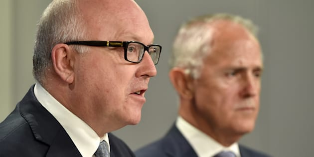 Attorney General George Brandis and Prime Minister Malcolm Turnbull.