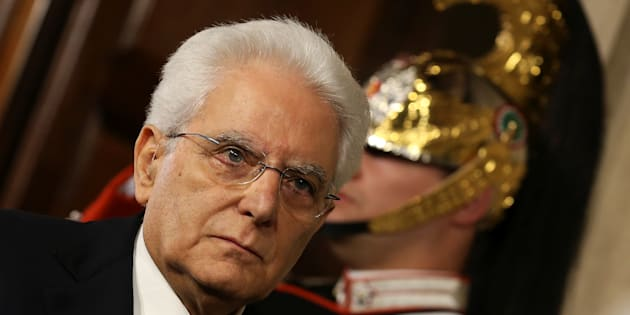 Italian President Sergio Mattarella arrives to meet media after a meeting with Italy's Prime Minister-designate Giuseppe Conte at the Quirinal Palace in Rome, Italy, May 27, 2018.  REUTERS/Alessandro Bianchi