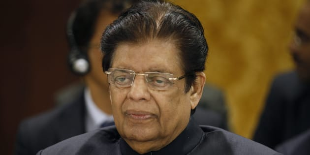 India's Minister of State for External Affairs E. Ahamed attends the 12th Asia Cooperation Dialogue Ministerial Meeting in Manama November 25, 2013.