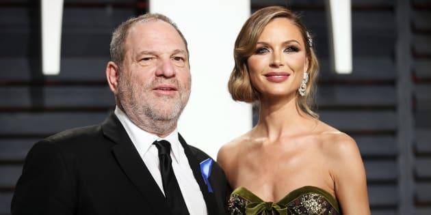 El productor Harvey Weinstein y su entonces mujer, la diseñadora Georgina Chapman, en la fiesta Vanity Fair tras los Oscar de 2017.