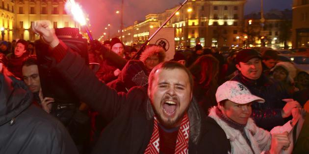 Une révolution a commencé en Biélorussie mais personne n'en parle. REUTERS/Vasily Fedosenko