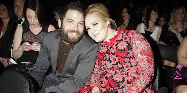 Adele and Simon Konecki looking adorable at the Grammys in 2013.