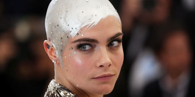 Au Met gala 2017, la mannequin s'était présentée sur le tapis rouge en argent des pieds à la tête.