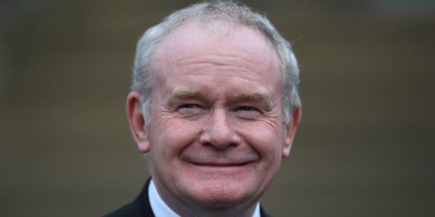Martin McGuinness à Belfast, en Irlande du Nord, le 3 novembre.