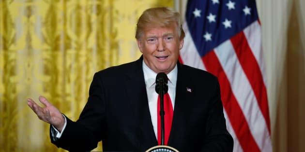Donald Trump à la Maison Blanche le 10 janvier 2018.