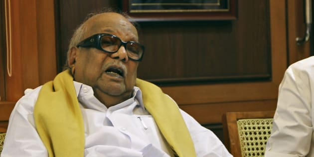 DMK president M. Karunanidhi was re-admitted to hospital late last night.