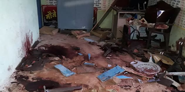 The room where five men were murdered in a lynching incident in Maharashtra's Dhule district.