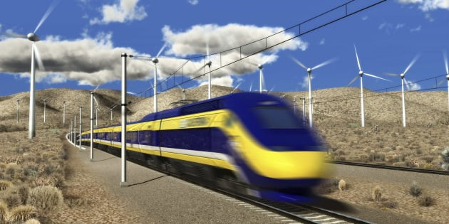 An artist's rendition of a planned high-speed train in California, courtesy of the California High-Speed Rail Authority. Washington state is exploring the possibility of a high-speed rail network for the Pacific Northwest built with help from the Canada Infrastructure Bank.