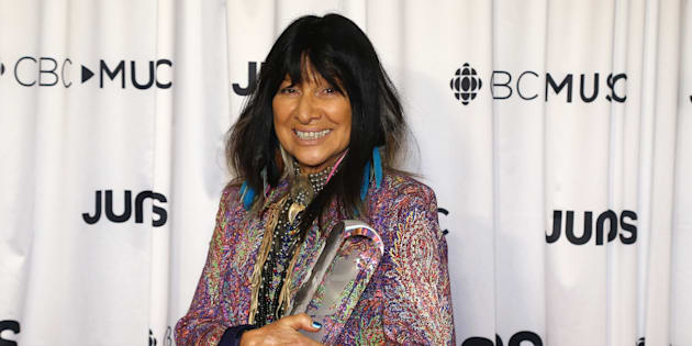 Buffy Sainte-Marie at the 2018 Juno Awards in Vancouver.