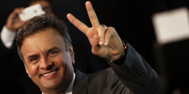 Em 2014, longe dos holofotes da Lava Jato: Aécio Neves em campanha presidencial.