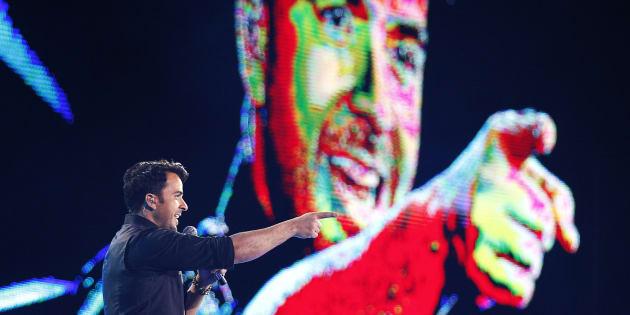 Luis Fonsi en una actuación en el Festival de Viña del Mar, en Chile, en febrero de 2015.