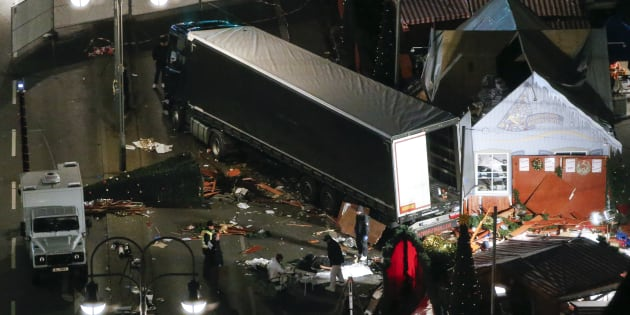 A general view shows the site where a truck ploughed through a crowd at a Christmas market on Breitscheidplatz square near the fashionable Kurfuerstendamm avenue in the west of Berlin, Germany, December 20, 2016
