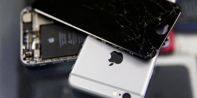 Un iPhone roto.