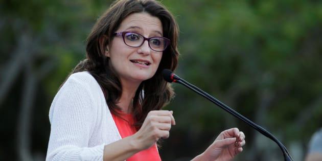 Monica Oltra, de Compromís, durante un mitin de campaña en 2016.