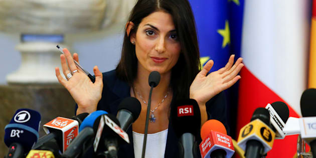 Rome's new mayor Virginia Raggi talks during a news conference in Rome Italy, September 21, 2016. REUTERS/Remo Casilli